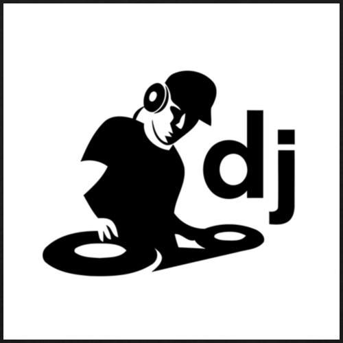 DJ Vinyl Sticker Wall Window Car Window Laptop Gra - Männer T-Shirt