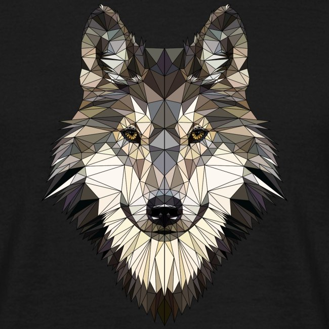 wolf, polygon design, unique