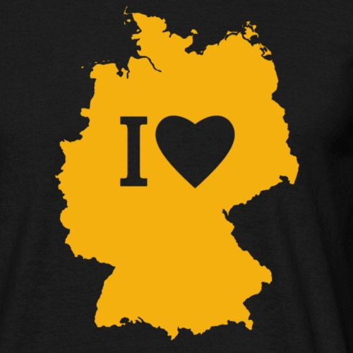 001 Deuchland gelb - Männer T-Shirt