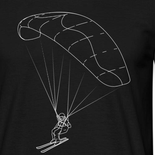 Speedriding Speedflying fine line sketch - Männer T-Shirt