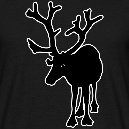 Poro - silhuetti - Miesten t-paita