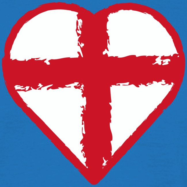 Heart St George England flag