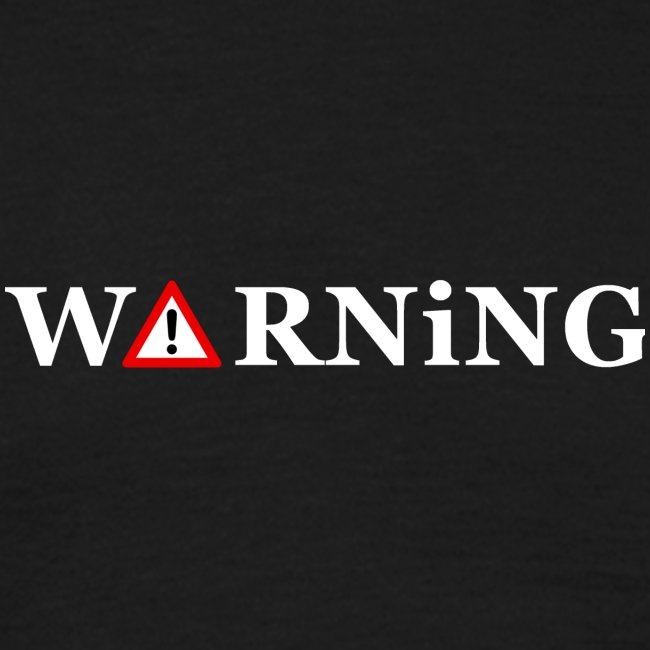 Front Warning Black