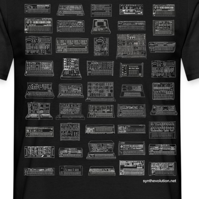 Synth Evolution T-shirt - Black