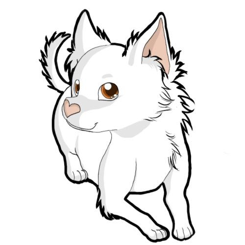Chihuahua a pelo lungo white - Maglietta da uomo
