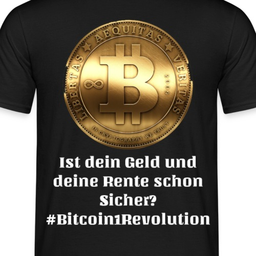 Bitcoin One Revolution white - Männer T-Shirt