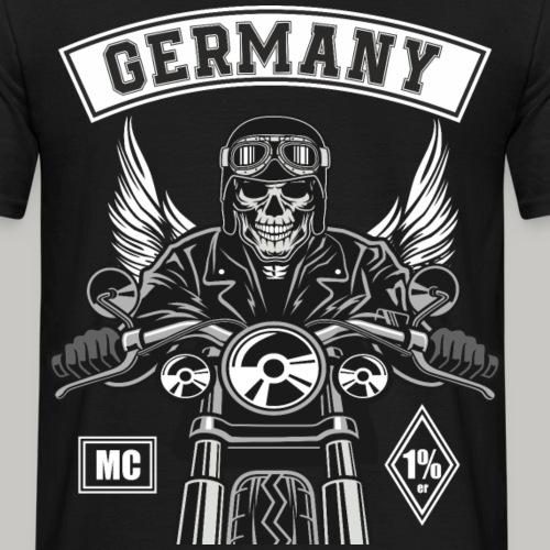 MC Motorrad Club Rücken Patch editierbar - Männer T-Shirt