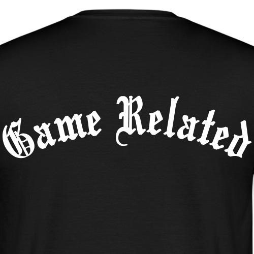 Game Related - valkoinen printti - Miesten t-paita