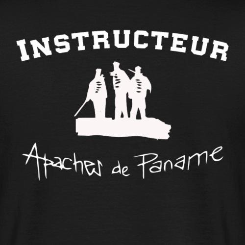 logo apaches Instructeur blanc - T-shirt Homme
