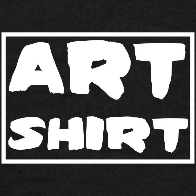 life no control tekst wit + artshirt logo op mouw
