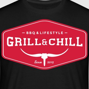 Grill and Chill / BBQ and Lifestyle Origin Logo - Männer T-Shirt