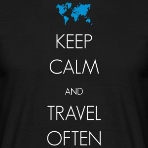 Keep calm and travel often - Männer T-Shirt