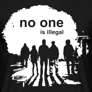 029 - no one is illegal - Männer T-Shirt