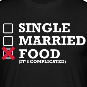 Single - Married - Food - Men's T-Shirt