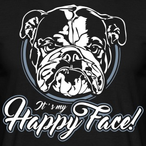 English Bulldog happyface - Men's T-Shirt