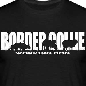 BORDER COLLIE WORKING DOG - Men's T-Shirt