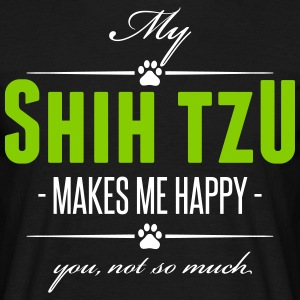 My Shih Tzu makes me happy - Men's T-Shirt