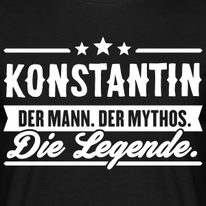Man Myth Legend Konstantin - Men's T-Shirt