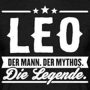 Man Myth Legend Leo - T-shirt herr