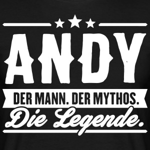 Man Myth Legend Andy - Men's T-Shirt