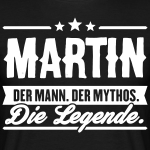 Man Myth Legend Martin - T-skjorte for menn