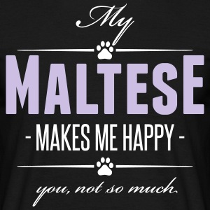 My Maltese makes me happy - Männer T-Shirt