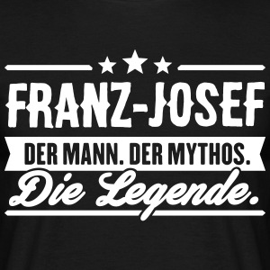 Man Myth Legend Franz-Josef - T-skjorte for menn