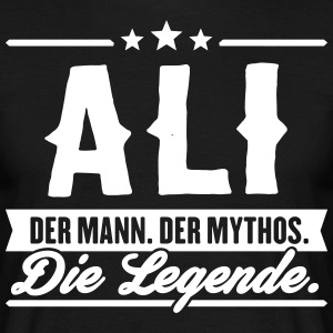 Man Myth Legend Ali - Mannen T-shirt
