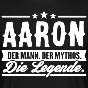 Man Myth Legend Aaron - T-shirt herr