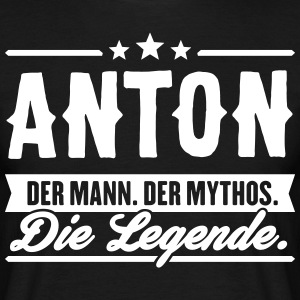 Man Myth Legend Anton - Men's T-Shirt