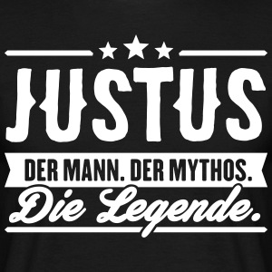 Man Myth Legend Justus - T-skjorte for menn