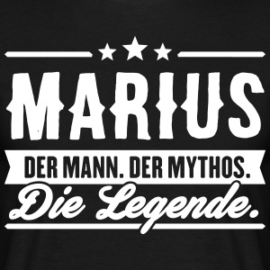 Man Myth Legend Marius - Men's T-Shirt