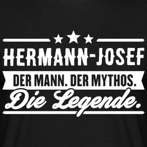 Man Myth Legend Hermann-Josef - Mannen T-shirt