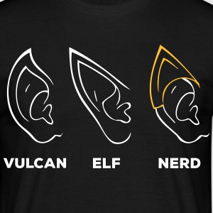 Vulcan Elf Ear Nerd - T-skjorte for menn
