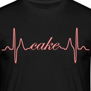 Torte Cake heartbeat ECG - Men's T-Shirt