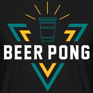 Beer Pong Shining Triangle - T-skjorte for menn