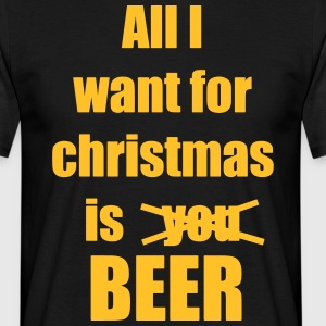 Christmas song saying Beer Beer - Men's T-Shirt