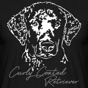 Curly coated retriever - Herre-T-shirt