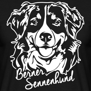 BERNESE MOUNTAIN DOG PORTRAIT - Men's T-Shirt