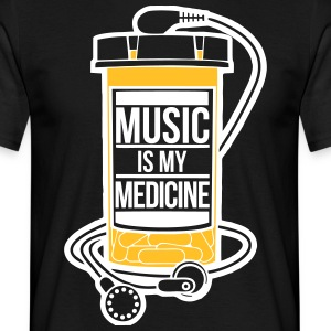 Music is my medicine - Men's T-Shirt