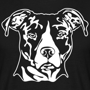 AMERICAN STAFFORDSHIRE PORTRAIT - Men's T-Shirt
