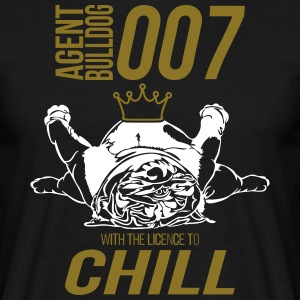 WITH THE LINCENC TO CHILL - English Bulldog - Men's T-Shirt