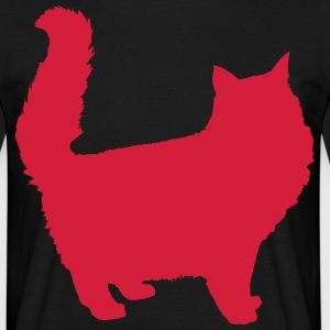 cat kontur - T-shirt herr