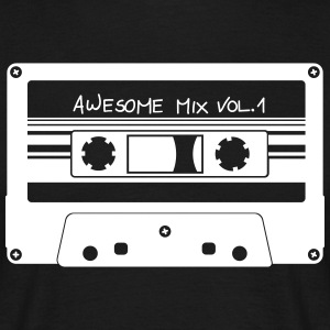 Kassette Awesome Mix - Männer T-Shirt