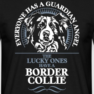 GUARDIAN ANGEL border collie - T-shirt herr