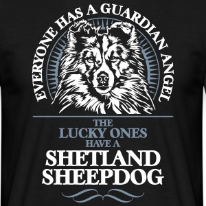 GUARDIAN ANGEL Shetland Sheepdog - T-skjorte for menn