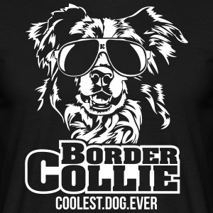 Border collie coolaste hund - T-shirt herr