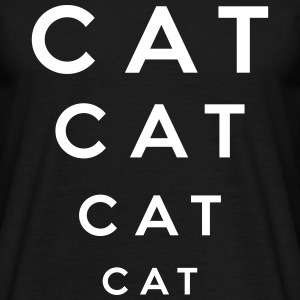 Cat - Cat lettering x 4 - Men's T-Shirt