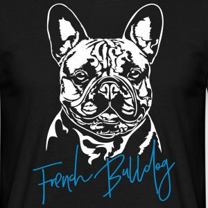 fransk bulldog - T-skjorte for menn
