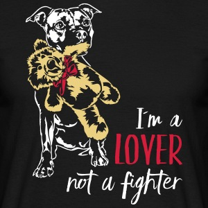LOVER NOT A FIGHTER - Staffordshire - Men's T-Shirt